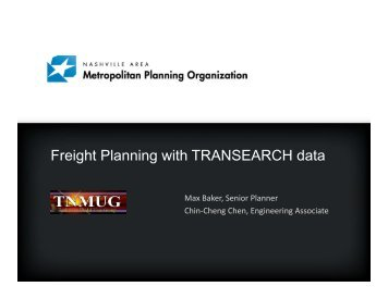 Freight Planning with TRANSEARCH data