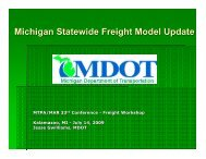 MDOT - Statewide Freight Model Update - State of Michigan
