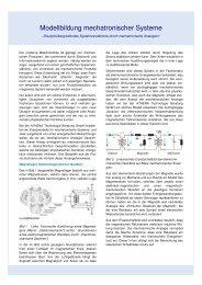 Modellbildung mechatronischer Systeme - ATHENA Technologie ...