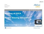 Meeting at OICA Plastic Glazing overview - UNECE