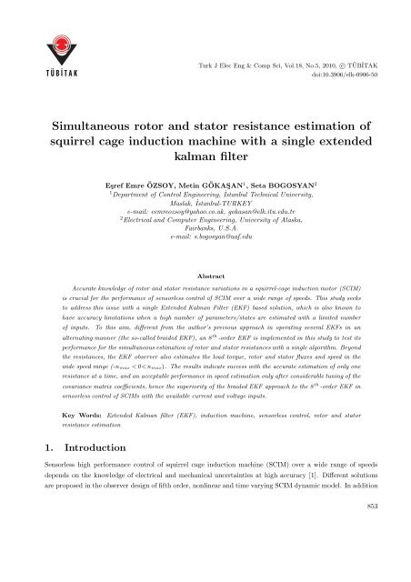 Simultaneous rotor and stator resistance estimation of squirrel cage