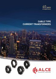split core cable type current transformers - ALCE