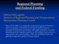Mike McLaughlin - National Association of Regional Councils