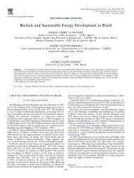 Biofuels and Sustainable Energy Development in Brazil - UFRJ