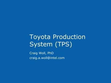 Toyota Production System (TPS) - free lean manufacturing