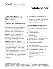 Lean Manufacturing Techniques - Development Dimensions ...