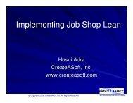 Implementing Job Shop Lean - CreateASoft