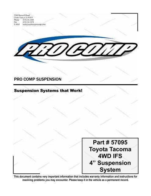Explorer Pro Comp 7213 Tacoma Brake Hose Kit