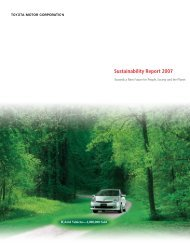 Sustainability Report 2007 A New Future for People - Toyota
