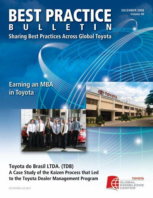 Earning An Mba In Toyota Gkc Online