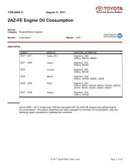 Information on Engine Oil Consumption Guidelines #01