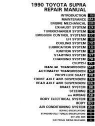 1990 Toyota Supra Factory Repair Manual