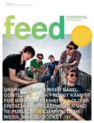 Aktuelle Ausgabe - Feed Magazin