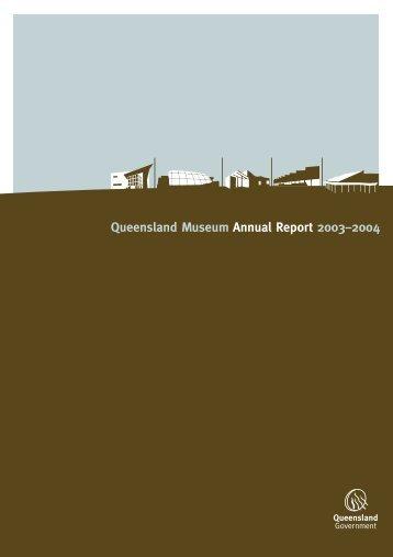 Queensland Museum Annual Report 2003–2004