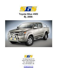 Toyota Hilux 4WD Bj. 2006- - SGS