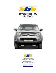 Toyota Hilux 4WD Bj. 2007- - SGS