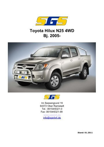 Toyota Hilux N25 4WD Bj. 2005- - SGS