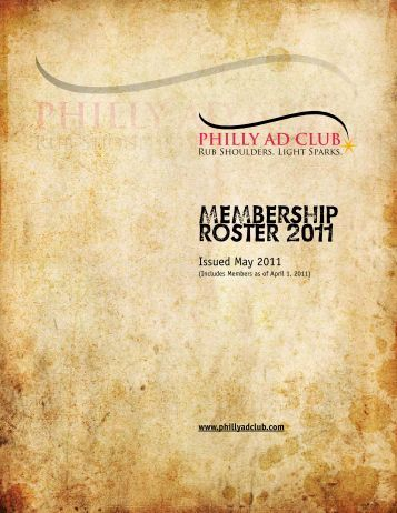 Philly Ad Club Membership Roster 2011