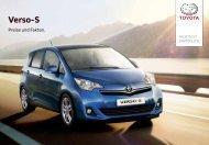 Verso-S Preisliste (2,6 MB) - Toyota Schweiz