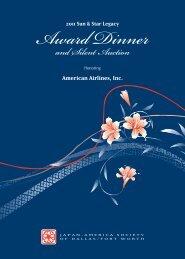 Award Dinner - Japan-America Society of Dallas/Fort Worth