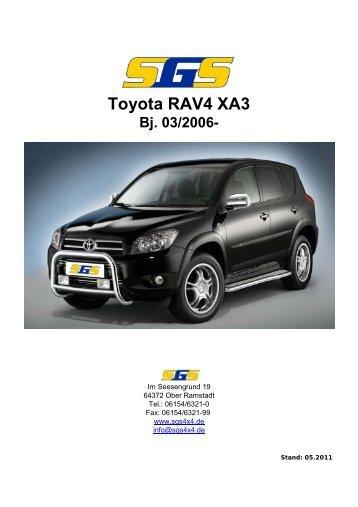Felgen Programm Toyota RAV4 XA3 03/2006 - SGS