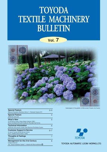 toyoda textile machinery bulletin toyoda textile machinery bulletin