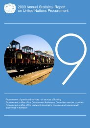2009 Annual Statisical Report on United Nations Procurement