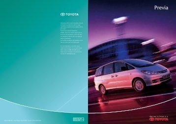 Previa - October - Toyota