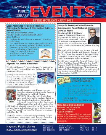 Teen Summer Reading Program June 11, 2012 - City of HAYWARD
