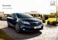 Avensis Preisliste (1.9 MB) - Toyota Schweiz