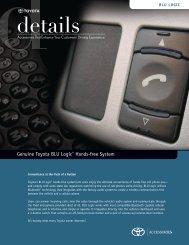 Genuine Toyota BLU Logic® Hands-free System - ShopTRD