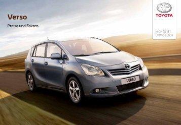 Verso Preisliste - Toyota Schweiz