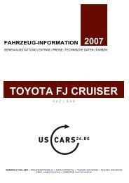 TOYOTA FJ CRUISER - Heimann & Thiel GbR