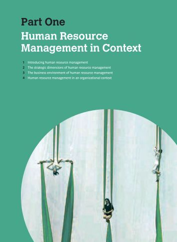 human resource management in business context Buy human resource management in a business context 3rd revised edition by alan price (isbn: 9781844805488) from amazon's book store everyday low prices and free.