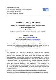 Cases in Lean Production - TUM Produktion und Supply Chain ...