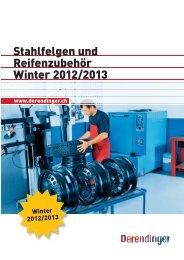 Stahlfelgen und Reifenzubehör Winter 2012/2013 - Derendinger