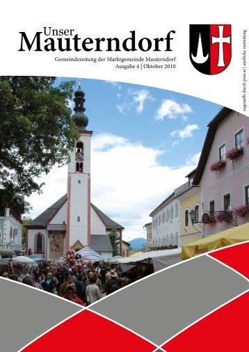 Oktober 2010 - Marktgemeinde Mauterndorf