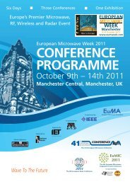 CONFERENCE PROGRAMME - European Microwave Week