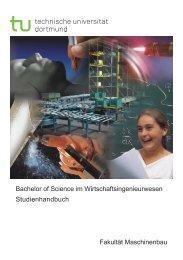 Studienhandbuch Wirtschaftsingieurwesen - Fakultät Maschinenbau ...