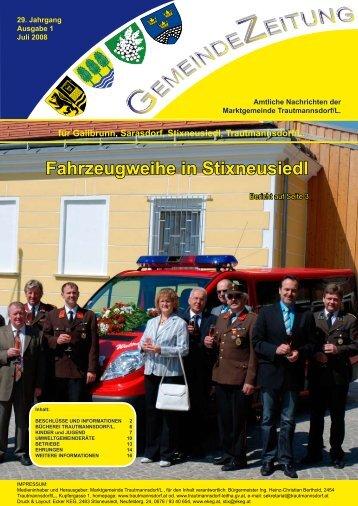 Ausgabe Juli 2008 - Trautmannsdorf an der Leitha
