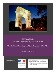 Download our conference program here. - NYU Steinhardt School of ...