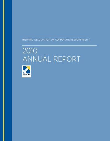 2010 annual report - Hispanic Association on Corporate Responsibility