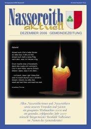 Gemeindezeitung - Nassereith Aktuell - Gemeinde Nassereith