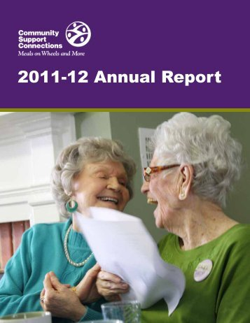 2011-12 Annual Report - Community Support Connections