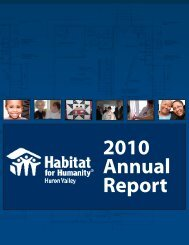 to View PDF - H4H - Habitat for Humanity of Huron Valley