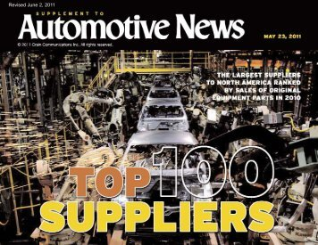 Top 100 suppliers - Conexus Indiana