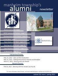 alumni newsletter spring 2012.indd - Manheim Township ...