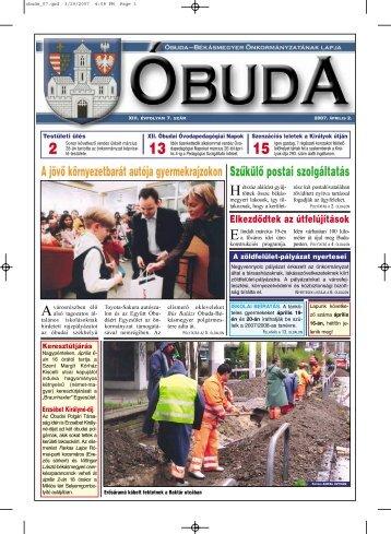 Óbuda újság 2007/7. szám - Óbuda-Békásmegyer