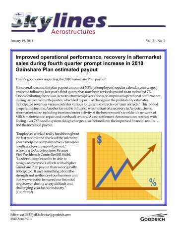 Improved operational performance, recovery in ... - Goodrich