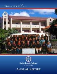 Annual Report - Saint Louis School